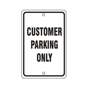 Customer Parking Only Sign Black
