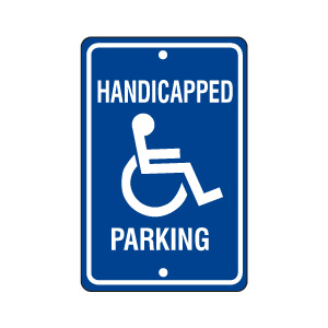 Handicapped Parking Sign Style 2