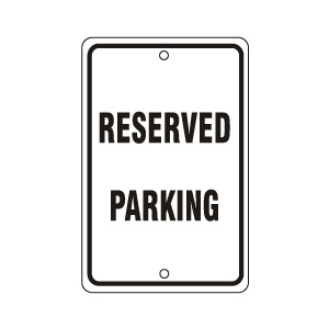 Reserved Sign Black