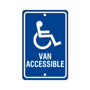 Handicapped Parking Sign (Van Accessible)