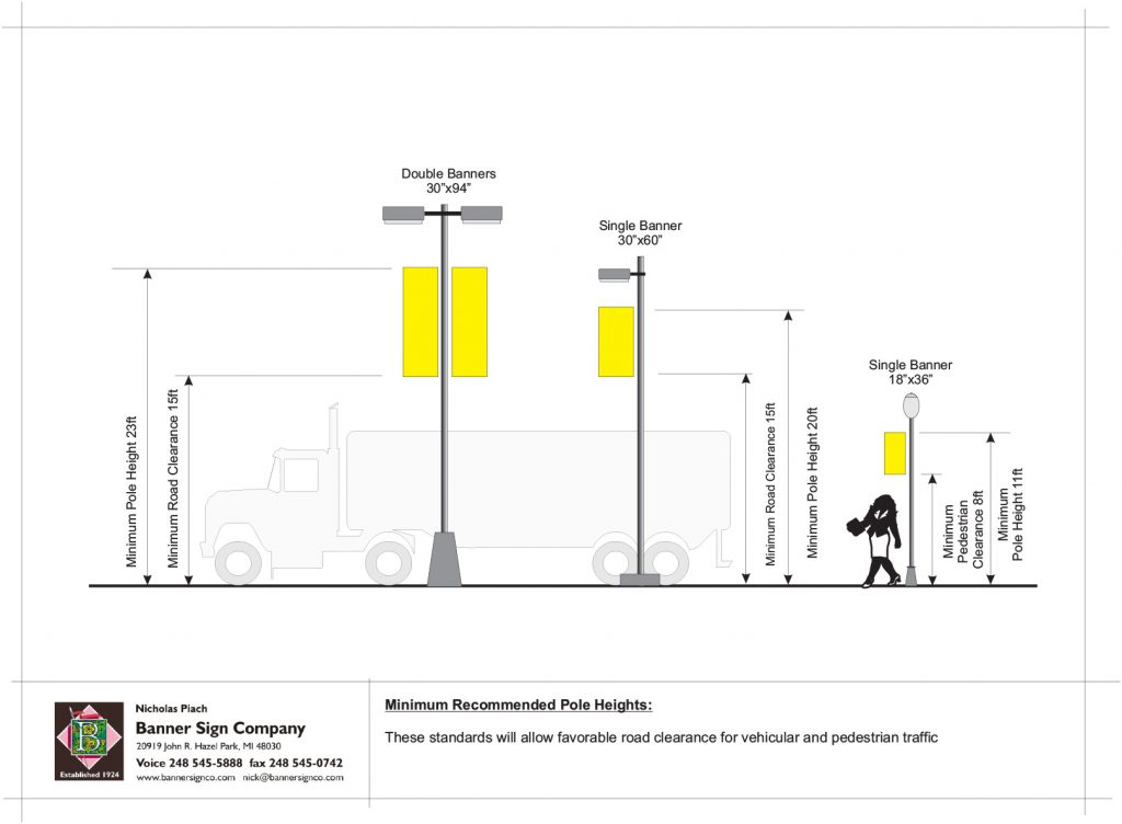 Pole Height Illustration