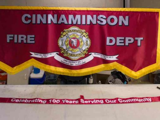 Cinnaminson Fire Department Parade Banner